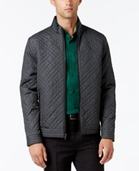 Alfani Collection Men's Lightweight Quilted Jacket Grey Heather