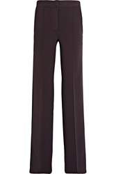 Burberry Striped Stretch Jersey Wide Leg Pants Merlot