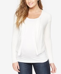 A Pea In The Pod Maternity Open Front Cardigan