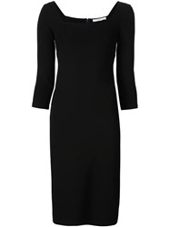 Givenchy Fitted Square Neck Dress Black