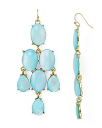 Aqua Cassandra Chandelier Earrings Turquoise