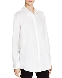 Dkny Side Zip Button Down Tunic White