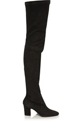 Tamara Mellon Dream Stretch Suede Thigh Boots Black