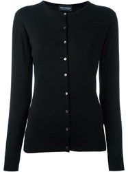 John Smedley Fitted Cardigan Black