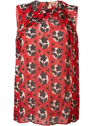 N 21 Nao21 Floral Print Blouse Red