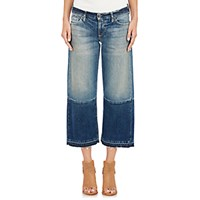 Simon Miller Women's Crop Wide Leg Jeans Navy