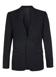 Topman Limited Edition Navy Skinny Fit Suit Jacket Blue