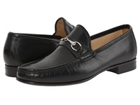 Massimo Matteo Hand Sewn Moccasin With Bit Black Men's Slip On Shoes