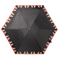 Fulton Tiny 2 Boxer Dog Print Folding Umbrella Black Red