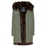 Mr And Mrs Furs Scott Parka With Fur Hood Camouflage