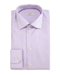 Eton Contemporary Fit Striped Dress Shirt Pink Blue Men's