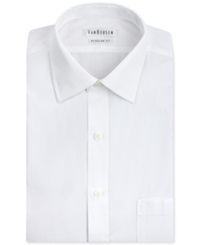 Van Heusen White Poplin Solid Dress Shirt