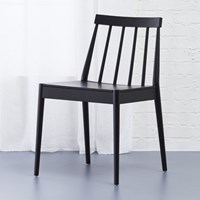 Cb2 Hemstad Black Chair