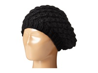 San Diego Hat Company Knh3366 Chunky Yarn Woven Beret Black Caps