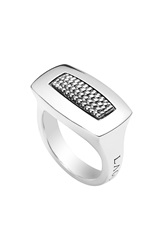 Lagos 'Imagine' Rectangular Ring Silver