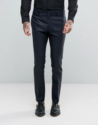 Religion Skinny Suit Trousers In Pow Check Navy