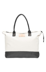 Will Leather Goods 'Getaway' Tote Natural Black