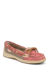Sperry Angelfish Embossed Boat Shoe Red