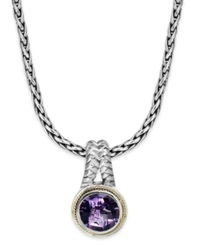 Effy Collection Balissima By Effy Amethyst Round Pendant 3 3 8 Ct. T.W. In 18K Gold And Sterling Silver