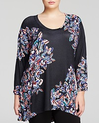 Nally And Millie Plus Butterfly Print Tunic Multi