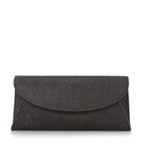 Untold Beray Fold Over Glitter Clutch Bag Black