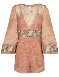 Alice Mccall Antique Rose All Eyes On You Playsuit Beige