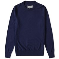 Maison Martin Margiela Maison Margiela 14 Elbow Patch Crew Knit Blue
