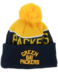 New Era Green Bay Packers Classic Sport Knit Hat Yellow Navy