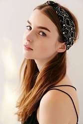 Urban Outfitters Castle Gates Beaded Headwrap Black