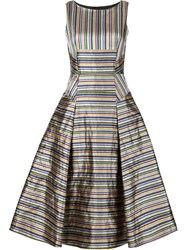 Odeeh Striped Flared Dress Multicolour