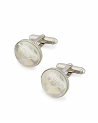 David Donahue Mother Of Pearl Horse Cuff Links Silver
