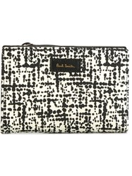 Paul Smith 'Etching' French Wallet Black