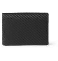 Alfred Dunhill Chassis Embossed Leather Business Card Holder Black