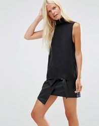 Minimum Emalie High Neck Sleeveless Top Black