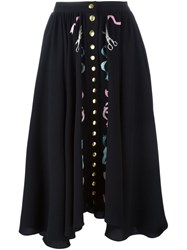 Olympia Le Tan Bead Embroidered Skirt Black