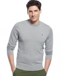 Tommy Hilfiger Signature Solid Crew Neck Sweater Griffin Heather