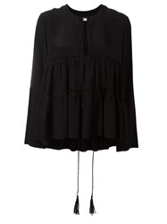 Chloe Tiered Blouse Black