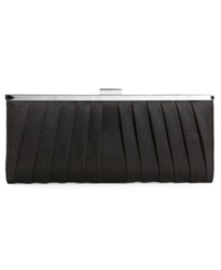 Style And Co. Carolyn Satin Clutch Black Silver