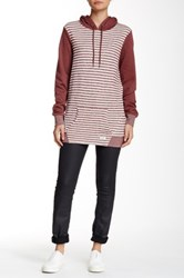Volcom Lived In Stripe Hooded Pullover Brown