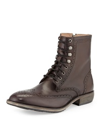 Andrew Marc New York Andrew Marc Hillcrest Leather Wing Tip Boot Lead Black