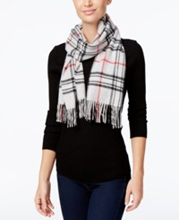 Charter Club Signature Plaid Cashmere Scarf Only At Macy's Heather Crystal