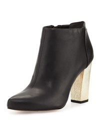 Sam Edelman Circus Bond Metal Heel Leather Bootie Black