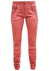 Cream Trousers Coral Rose