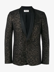 Saint Laurent Glitter Tuxedo Jacket Black