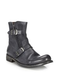 John Varvatos Brixton Leather Moto Zip Boots