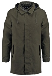 Knowledge Cotton Apparel Parka Forest Night Oliv