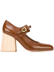 Marni Mary Jane Heels Brown