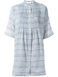 Rag And Bone Rag And Bone Striped Shirt Dress Blue
