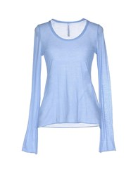 Pianurastudio Topwear T Shirts Women Sky Blue