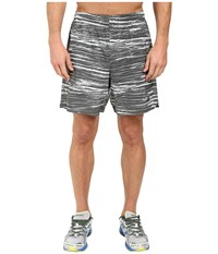 New Balance 7 Stretch Woven Print Shorts Droplet Galaxy Men's Shorts Gray